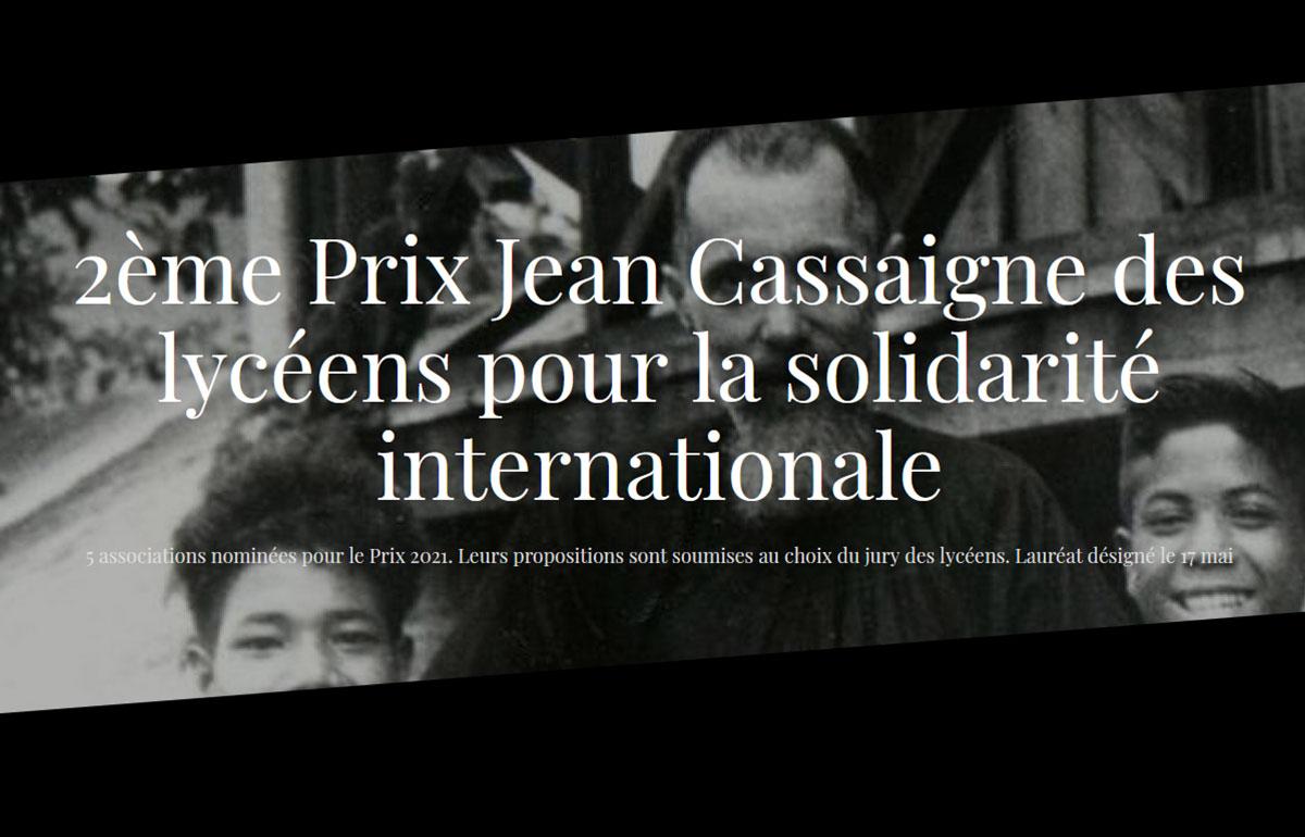 Elevages sans frontières nominé pour le Prix Jean Cassaigne